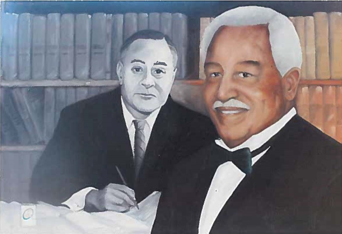 Painting of Dr. Quinn and Ralph Bunche