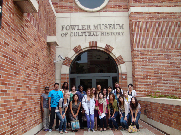 Students outside Fowler Museum