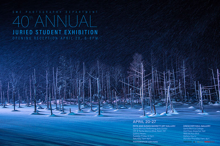 40th Anniversary Juried Student Exhibition Poster