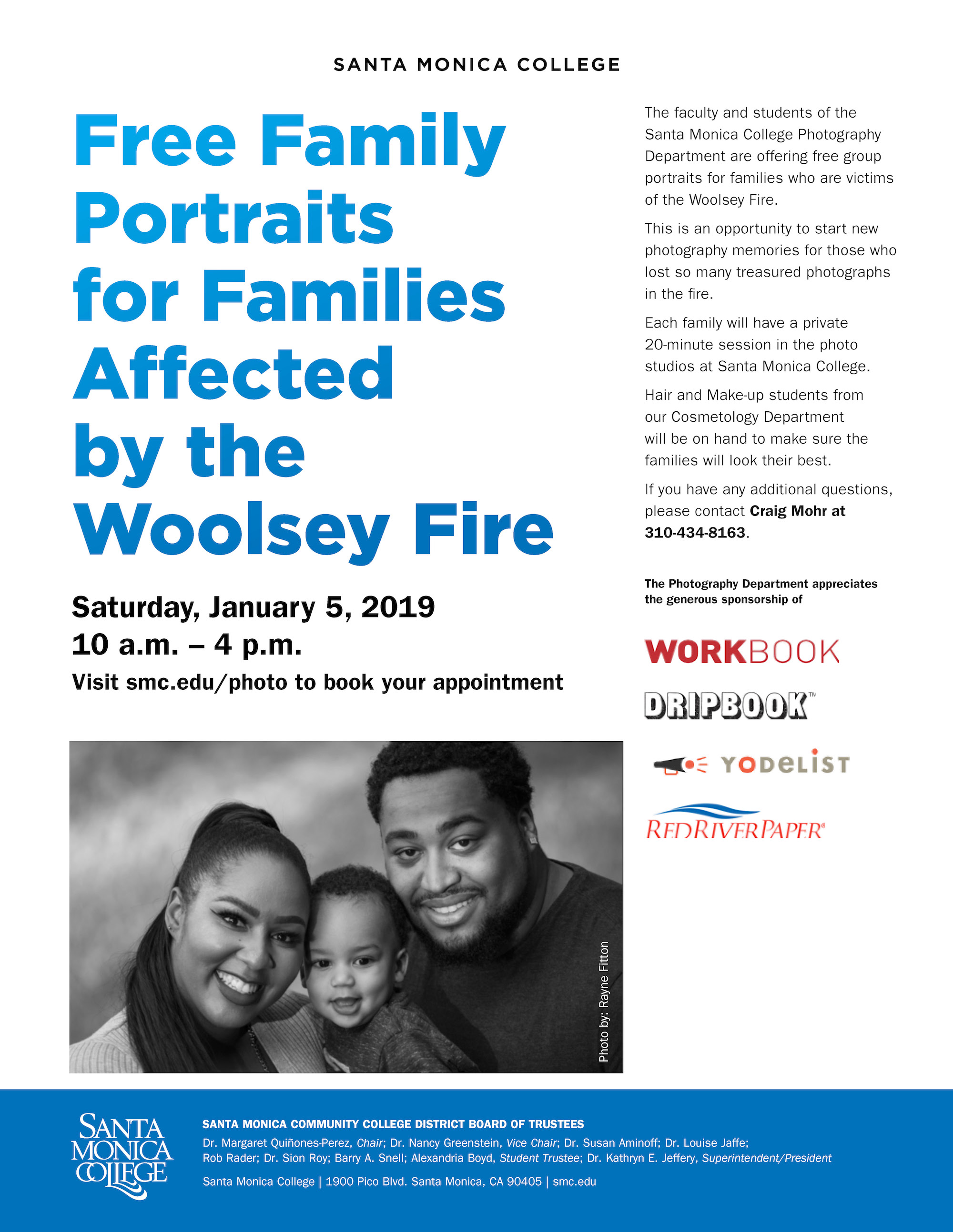 Free Family Portraits for Woolsey Fire Families