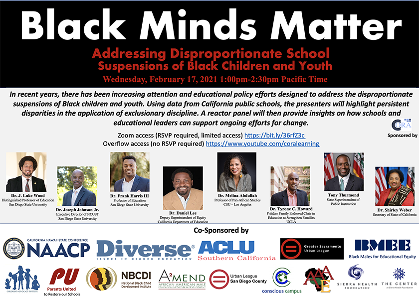 Flyer for Black Minds Matter webinar on February 17, 2021