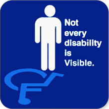 Not every disability is Visible.