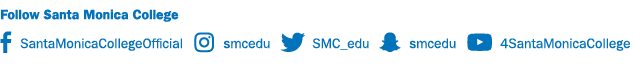 Follow SMC with Longhand Social Media Icons with a horizontal layout