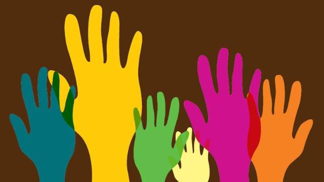 Art and Social Justice colorful hands Oct 8