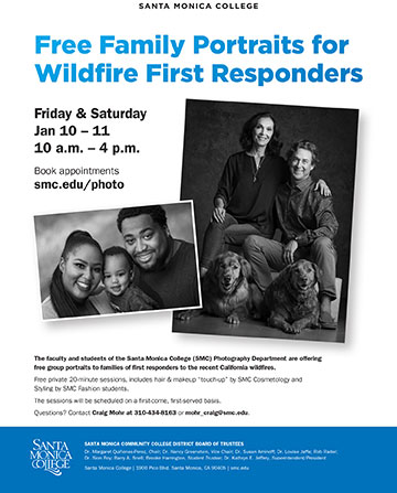 Free Family Portraits for Wildfire First Responders Poster