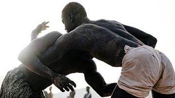 Nico Therin Senegalese Wrestling Photos