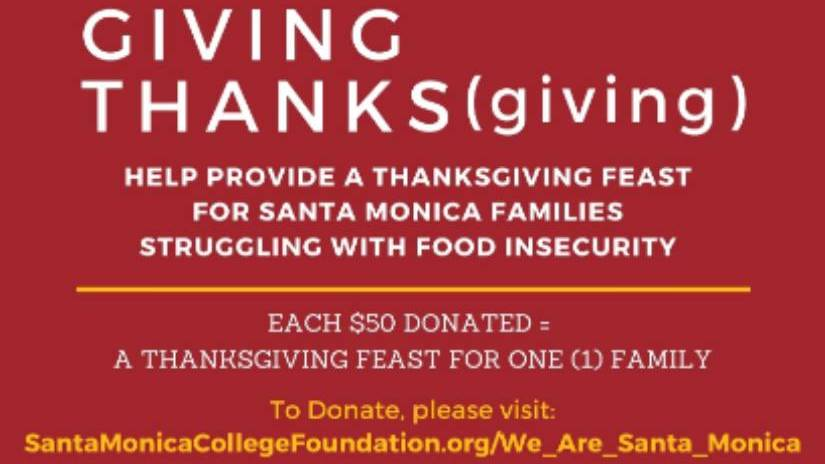 SMC, Foundation & City of Santa Monica to Provide Thanksgiving Groceries for Food Insecure Families
