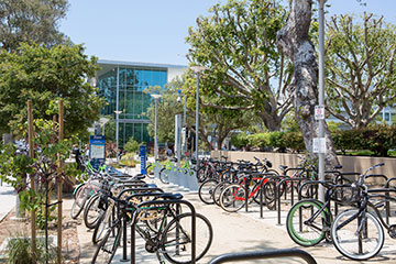 Bike racks at SMC