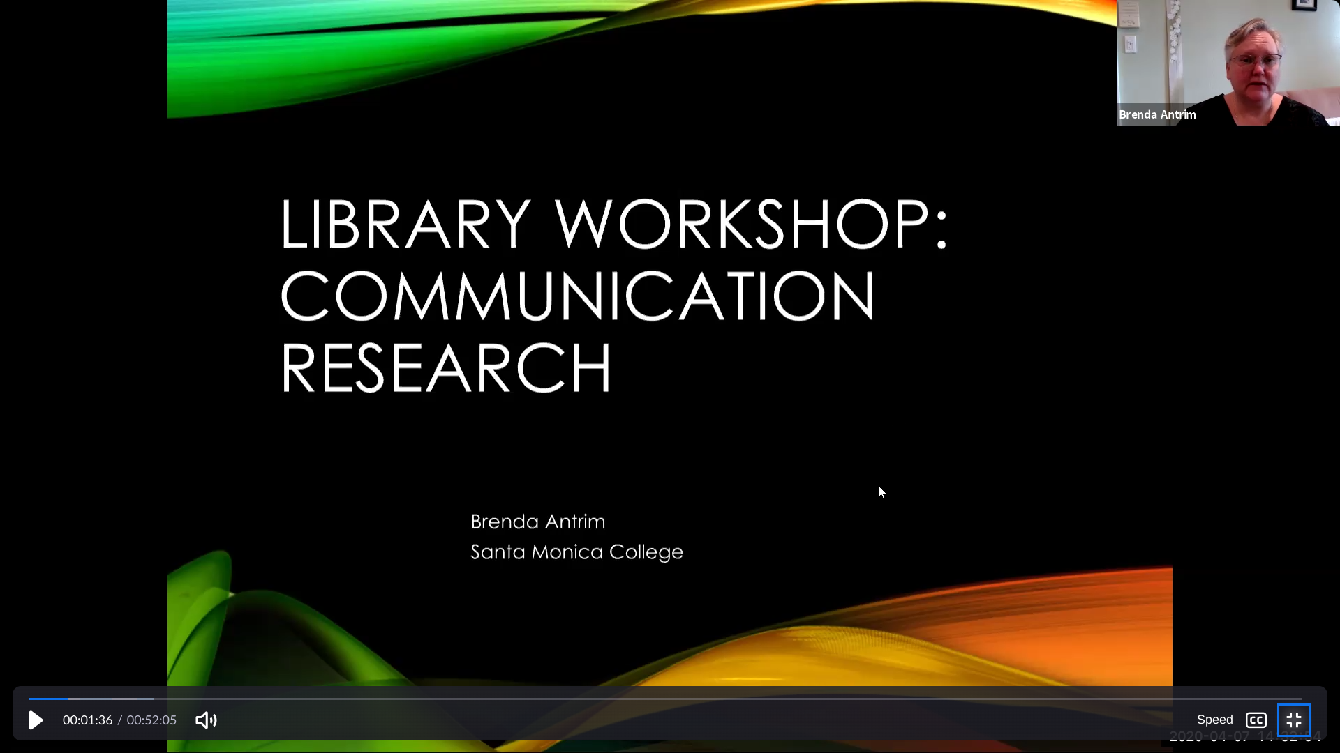 Communication Research Workshop