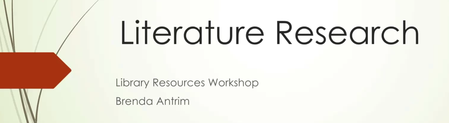 Literature Research Workshop