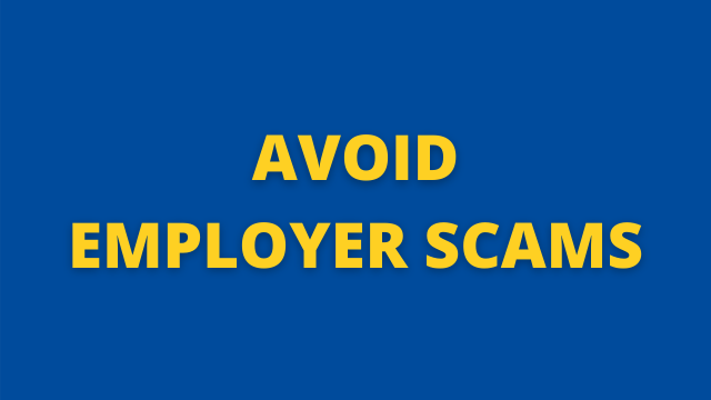 Avoid Employer Scams