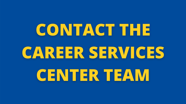 Contact the Career Services Team