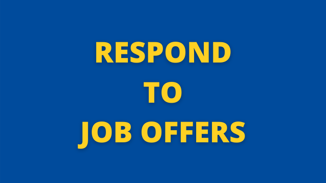Respond to Job Offers