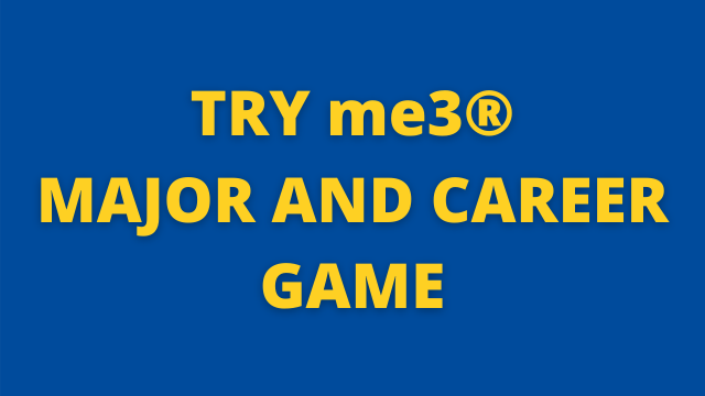 Try me3® Major and Career Game