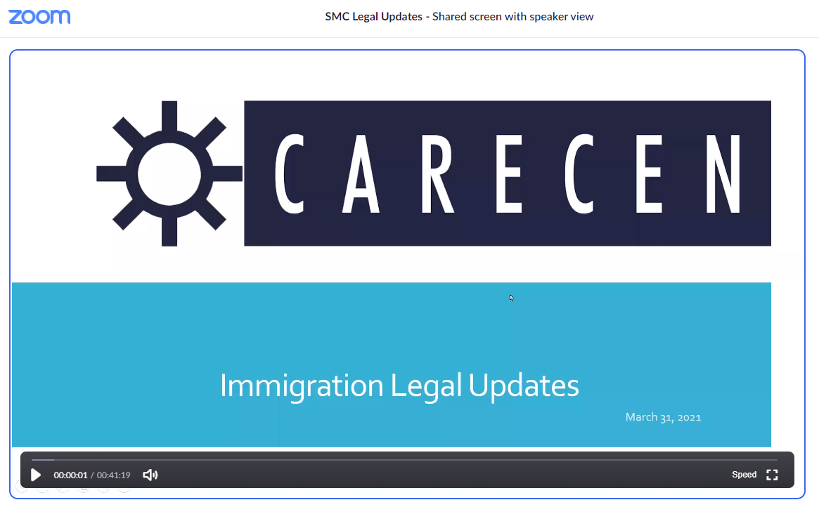 March 31, 2021 Immigration Updates